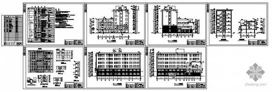 石家庄某产品检测中心办公楼建筑结构图