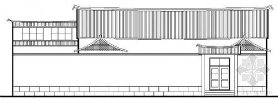 某单层民居住宅建筑结构方案图