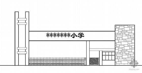 某小学校大门建筑电路给排水施工图