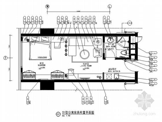[重庆]国际大厦现代公寓室内装修图(含效果)