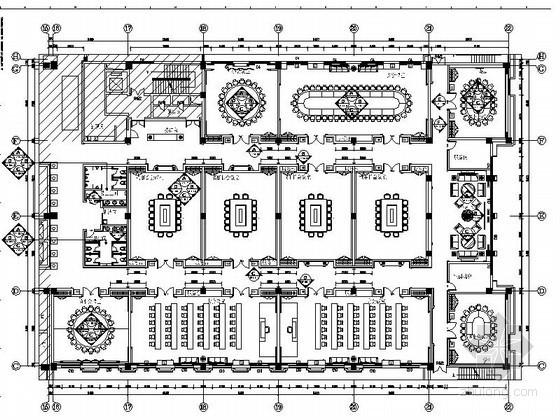[山东]某奢华五星级大酒店会议区施工图