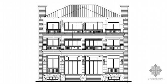无锡长江国际花园某双拼别墅建筑施工图
