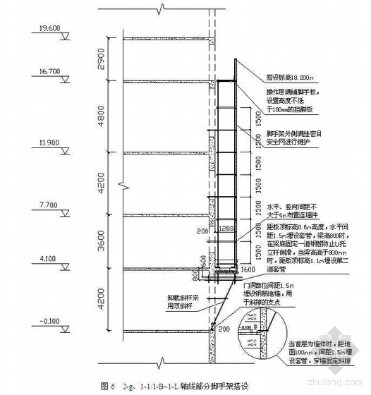 河北省某商住楼脚手架施工方案(外挂架、挑架)