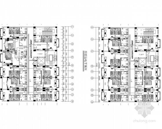 [廣西]四星級連鎖酒店水電施工圖41張