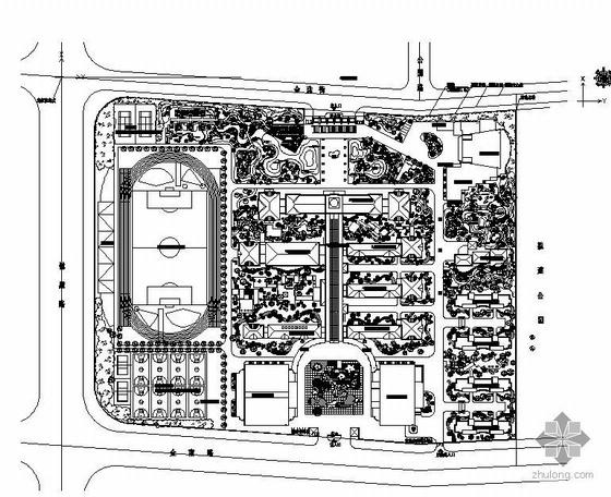 某学校景观规划方案总平面图