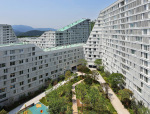 首尔富人区密集型公寓的院落设计