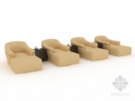 洗脚城足浴沙发3d模型下载