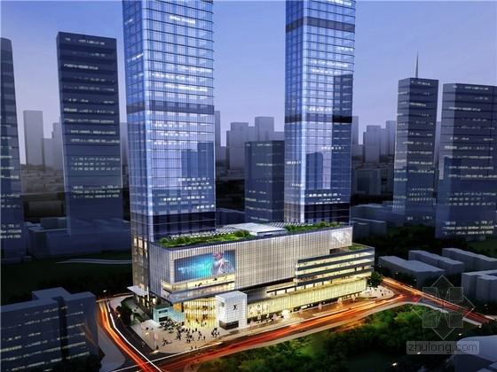 [重庆]现代风格高层商务综合体设计方案文本(含2个方案 知名设计院)