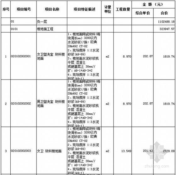 [广东]会所室内装修结算书