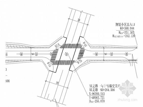 [重庆]双向两车道城市支路全套施工图设计83张(知名大院 道排 照明)