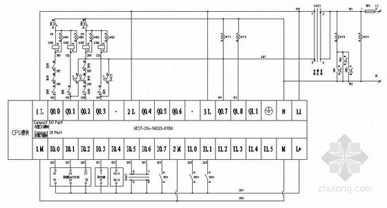 一控二变频器资料下载-变频器恒压供水控制图(一控二).