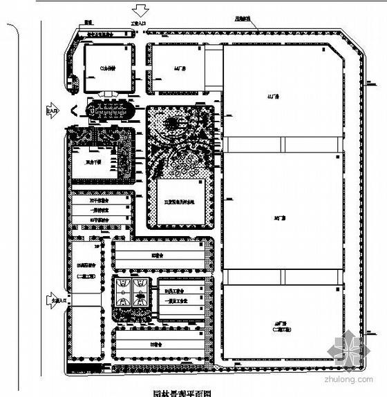 深圳某电子厂园林景观设计方案
