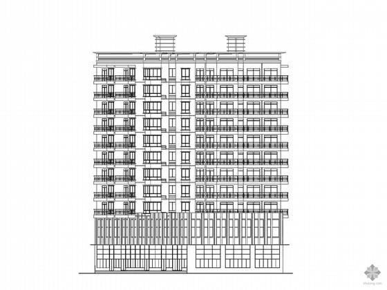 [合肥]某十一层商住楼建筑施工图(含干挂石材幕墙图)