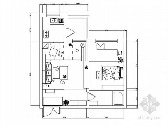 现代一居室小户型室内装修图(含效果)