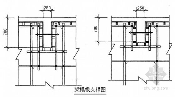 [上海]屋面构架层施工方案(9.2米 高梁模板 附计算书 2011年)
