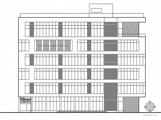 [河源市]某六层食品药品检测中心大楼建筑施工套图(节能型建筑)