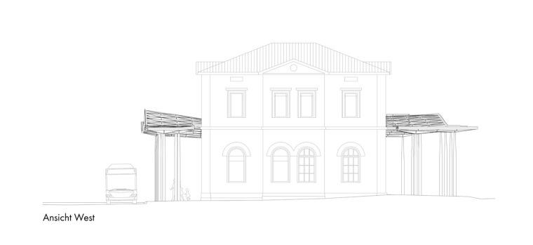 埃斯林根汽车站周围景观立面图(9)