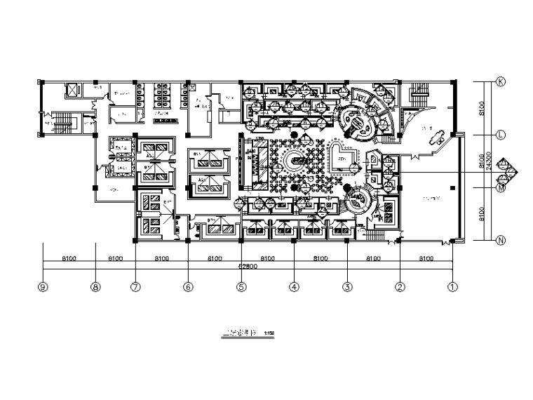[河北]时尚酒吧设计CAD施工图(含效果图)