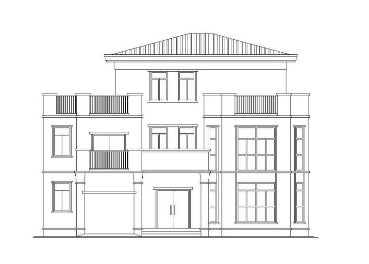 [广东]3层独栋别墅施工图设计