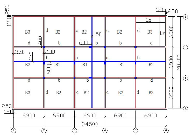 双向板按弹性方法计算实例(word,4页)