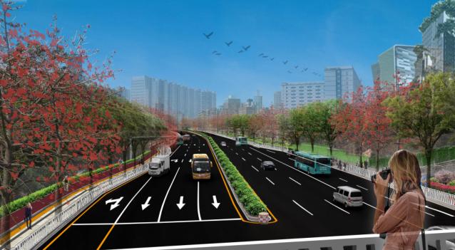 [广东]雪岗北路大和路景观方案设计(PDF+81页)-效果图