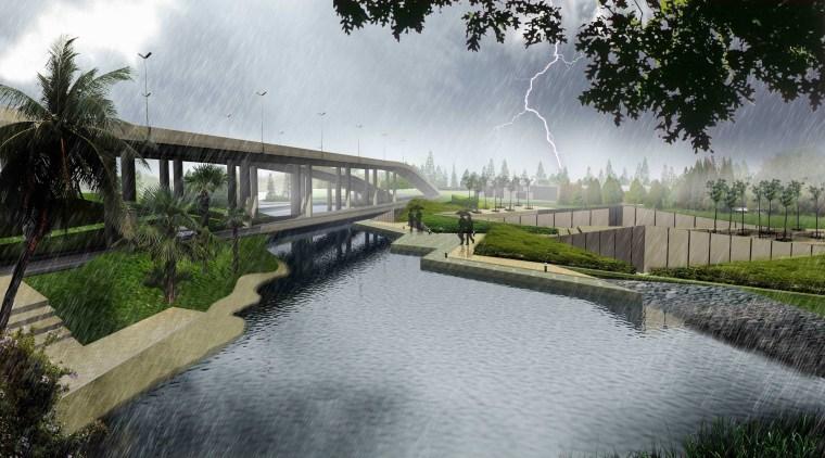 [江苏]苏州市沪宁高速公路西出入口景观规划方案设计(现代风格)-E段效果图3