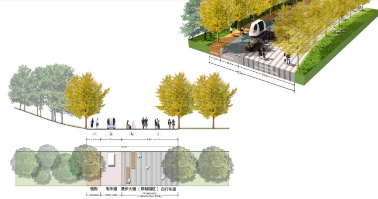 [上海]南站绿轴景观方案设计(现代风格)A-9剖面图