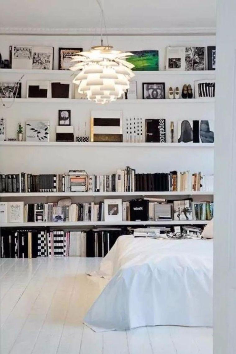 如何在家里挤出一间书房,这4种方案必须收藏!_24