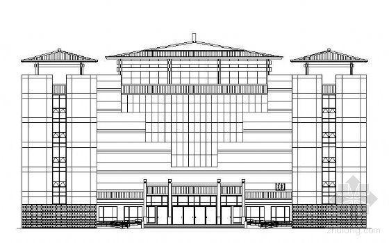 某玉器城展厅幕墙工程建筑施工图
