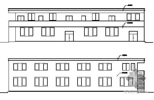 南平市某纺织厂两层职工食堂建筑结构施工图
