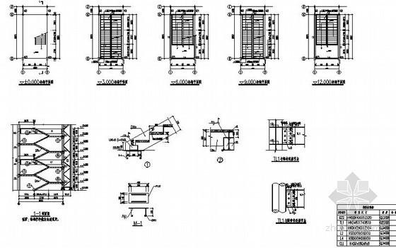 [苏州]三层钢管桁架框架结构钢楼梯节点构造详图