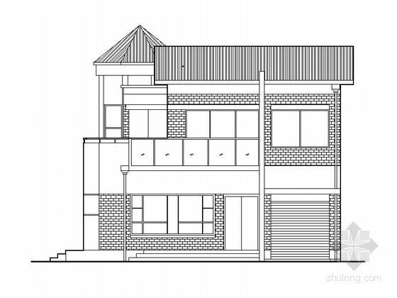 [仪征]某花园别墅二层别墅建筑扩初图