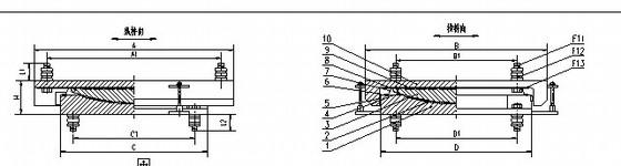 [湖北]城际轨道交通连续梁球型支座安装图(GTQZ-Ⅱ)