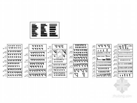 石膏雕花角线全套CAD图块下载