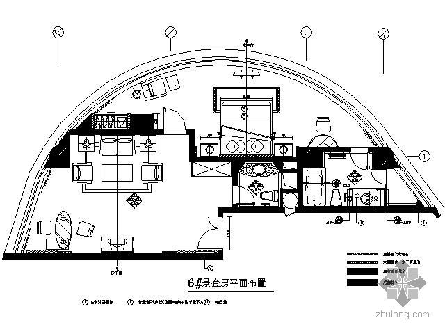 [海口]五星酒店园景套房施工图