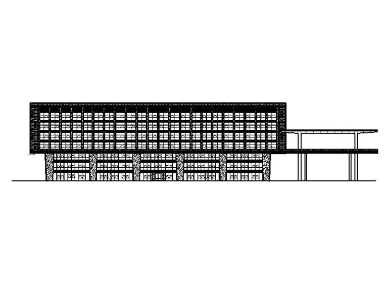 [北京]高层铝板幕墙钢结构创新型人才基地建筑施工图