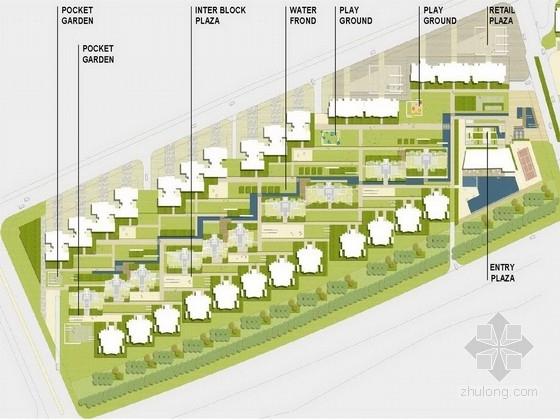 """[广东]""""编织""""主题社区道路及周围绿化景观设计方案(知名设计所双语)"""