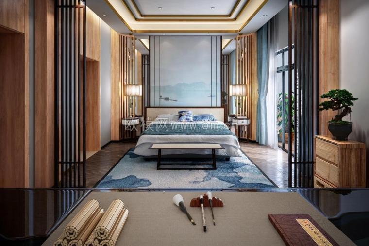 理想型卧室装修,周末就窝在这里面不想出门了哈哈哈~欧模网-14752256472613.jpg