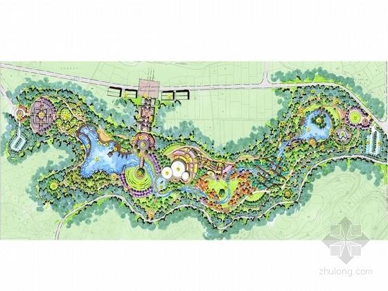 [四川]城市绿色带状山体植物园景观规划设计方案