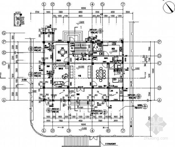 [南昌]风景区3层框架别墅结构施工图(平法)