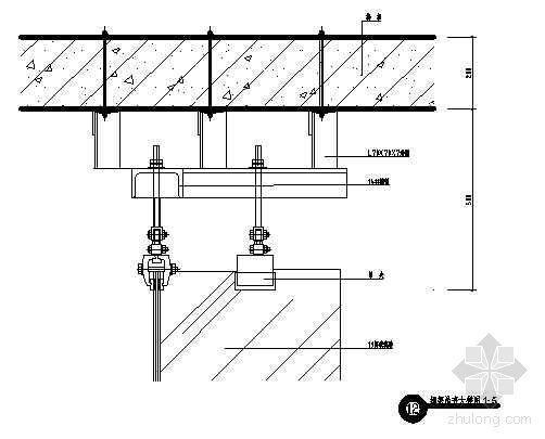 钢架吊夹大样图1