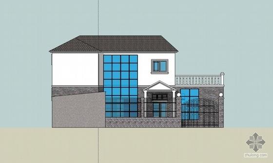 某二层农村住宅设计方案图(含渲染图)