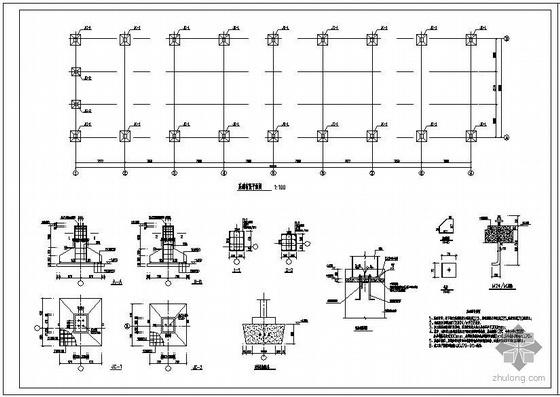 某单坡仓库结构设计图
