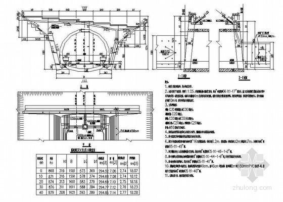 双线有砟轨道隧道双侧挡墙台阶式隧道洞门节点详图设计