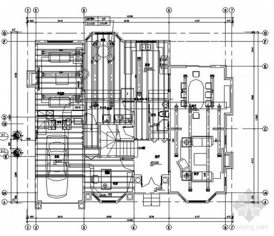 某别墅中央空调平面图