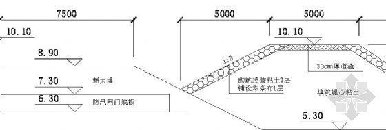 长江口某码头破堤临时围堰施工方案