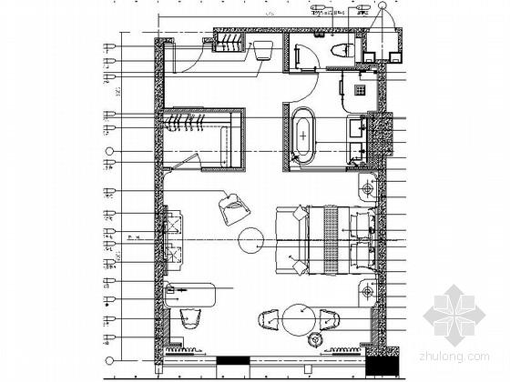 [浙江]现代简约酒店客房精装修CAD施工图