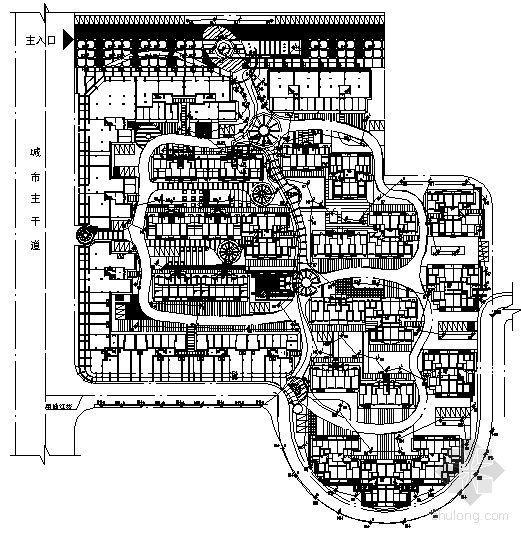 某小区照明电气平面及系统图