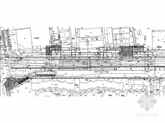 [北京]单柱两跨地下两层侧式地铁车站设计图(2011)