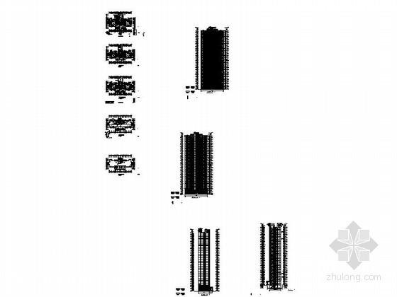 某三十三层一梯四户住宅楼建筑扩初图-